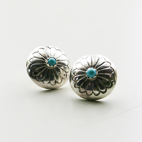 HARPO/CONCHO EARRINGS ER07/BO01 TURQUOISE