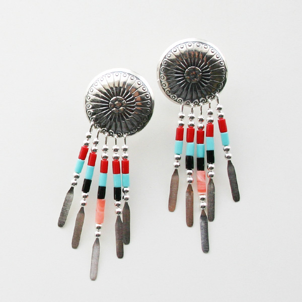 HARPO/CONCHO BEADED EARRINGS ER10/E310 MIX