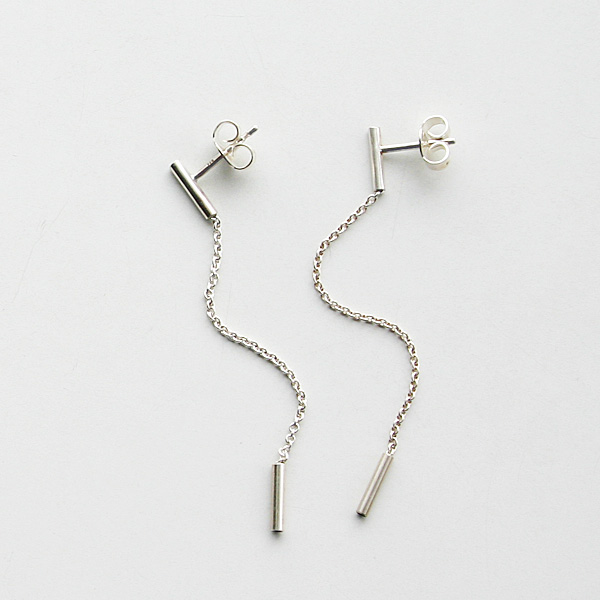 Saskia Diez/FINE EARRINGS ROUND 925 AG