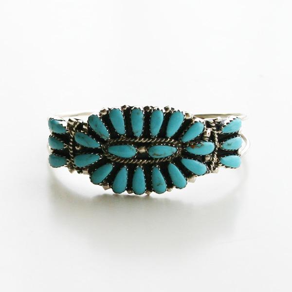 HARPO/FLOWER BRACELET BR28/BRN03 Turquoise
