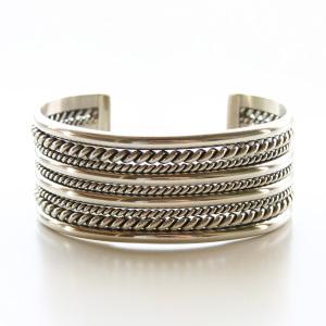 HARPO/Silver Wide Cuff Bracelet