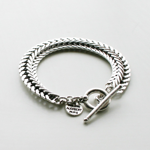 【再入荷】PHILIPPE AUDIBERT/Tiara chain bracelet, brass silver color,