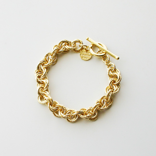 PHILIPPE AUDIBERT/Poe bracelet brass light gold color,