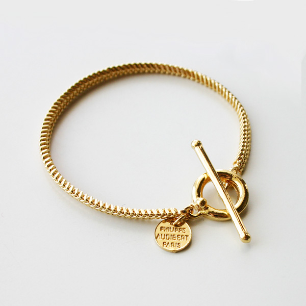 PHILIPPE AUDIBERT/Etienne bracelet, brass light gold color,