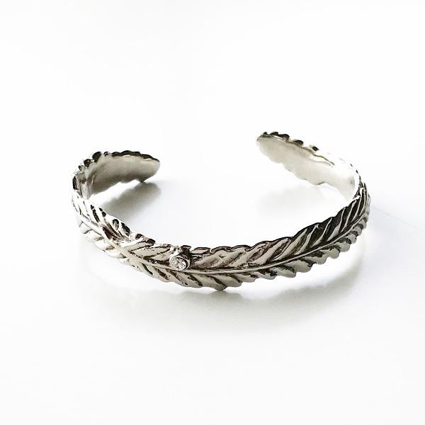 gren/feather bangle/SLV