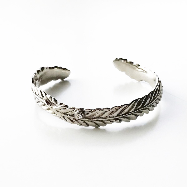 gren/feather bangle/SLV