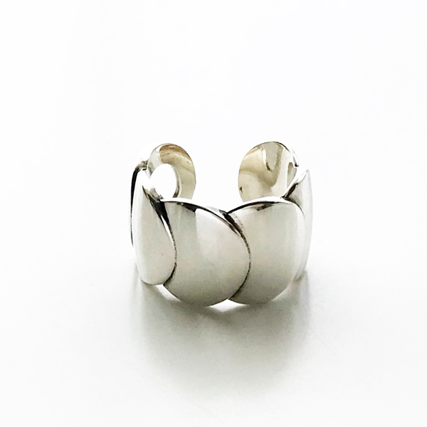 PHILIPPE AUDIBERT/Cesar ring brass silver color,