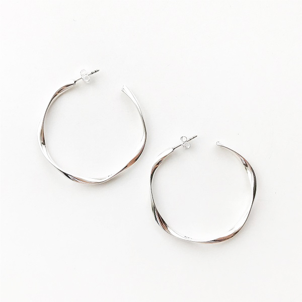 【再入荷】PHILIPPE AUDIBERT/Charlee earring M brass silver color,