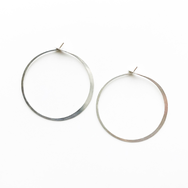 "MELISSA JOY MANNING/ Large Hoops 1.5"" diameter"