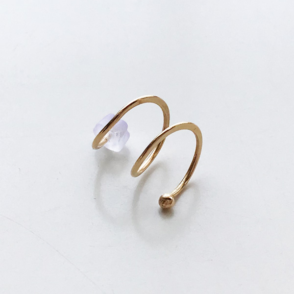 【30%OFF】 MELISSA JOY MANNING/14 karat yellow gold double hug earring. Left