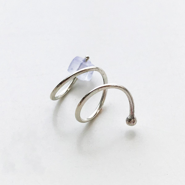 【30%OFF】 MELISSA JOY MANNING/Sterling silver double hug earring. Left