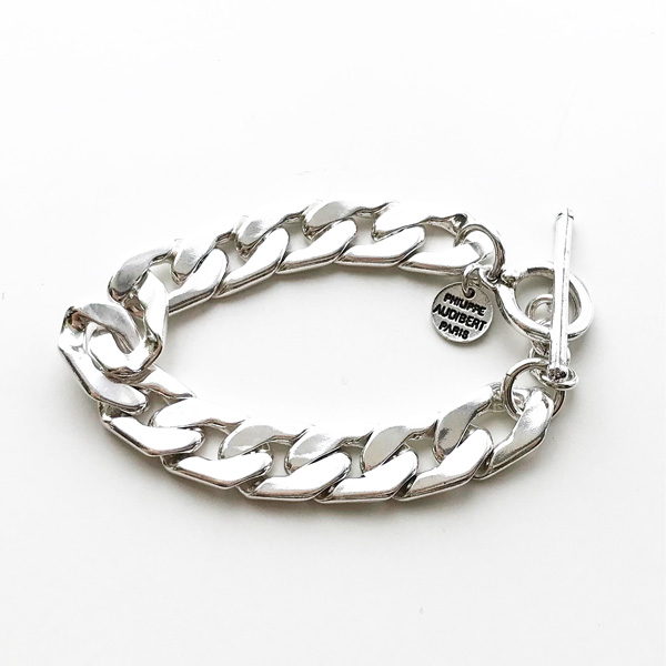 PHILIPPE AUDIBERT/Ben chain bracelet, brass silver color,