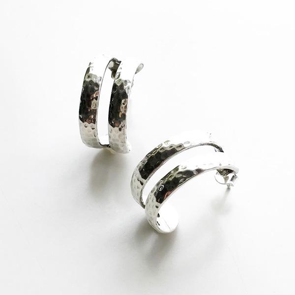 【20%OFF】 PHILIPPE AUDIBERT/Besna hoop earring brass silver color,