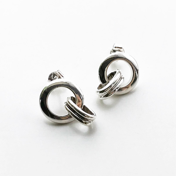 【再入荷】 PHILIPPE AUDIBERT/Earrings Byron, brass silver color,