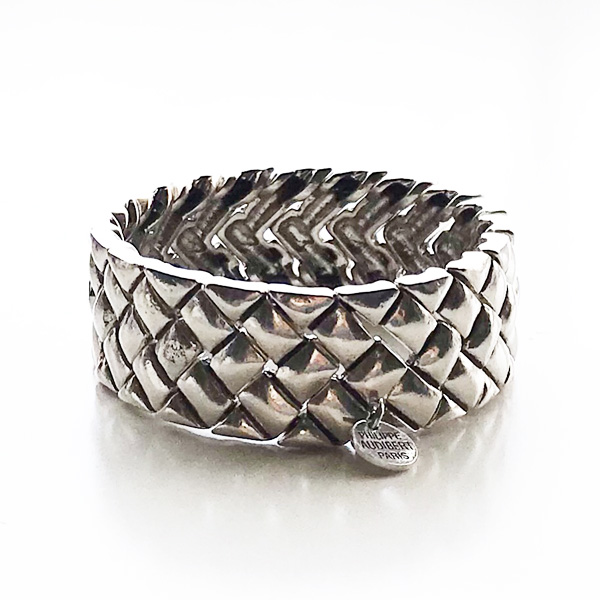 PHILIPPE AUDIBERT/Lutecia bracelet,pewter silver color,