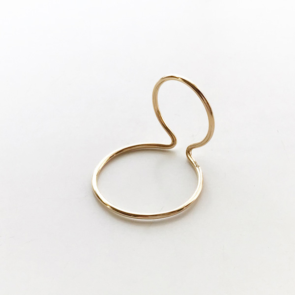 【再入荷】 Saskia Diez/WIRE BOLD EARCUFF DOUBLE NO1 925 AG GOLD PLATED