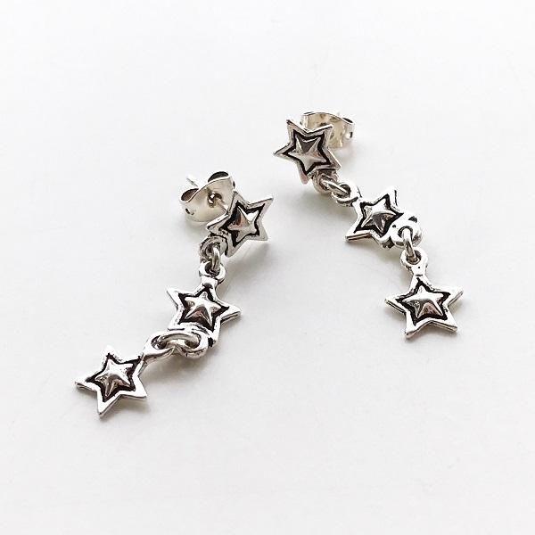 【再入荷】 PHILIPPE AUDIBERT/3April earring pewter silver color,