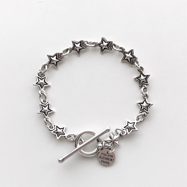 PHILIPPE AUDIBERT/April bracelet, pewter silver color,