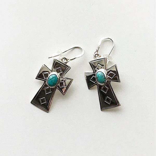 HARPO/BO01/2019ss Cross Earrings