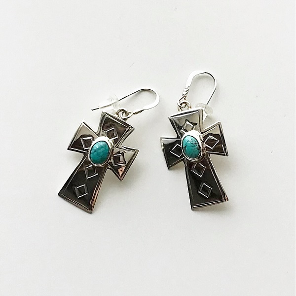 HARPO/BO01/2019ss Cross Earrings