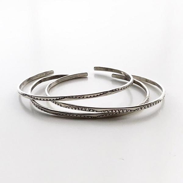 HARPO/BR10/2019ss Set of 3 Solid Silver Bracelets