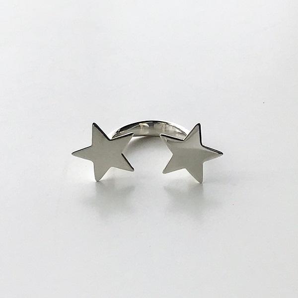 Saskia Diez/STAR RING DOUBLE * 925 AG