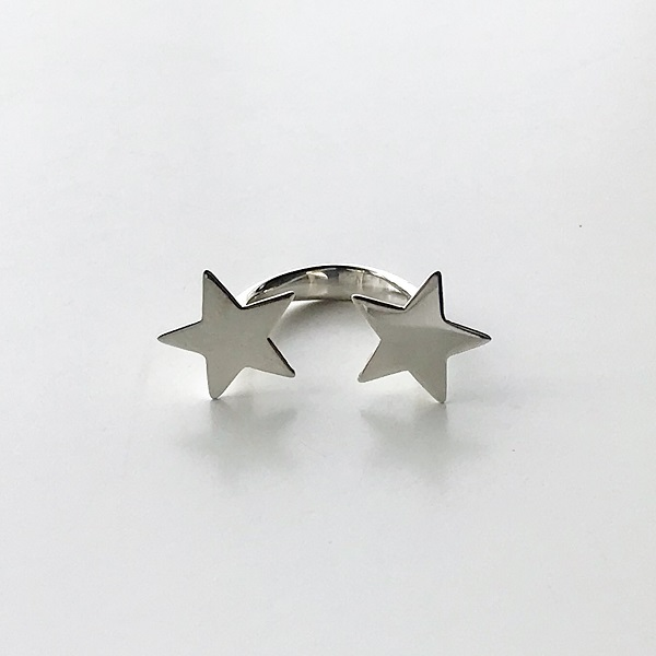 Saskia Diez/STAR RING DOUBLE * 925 AG