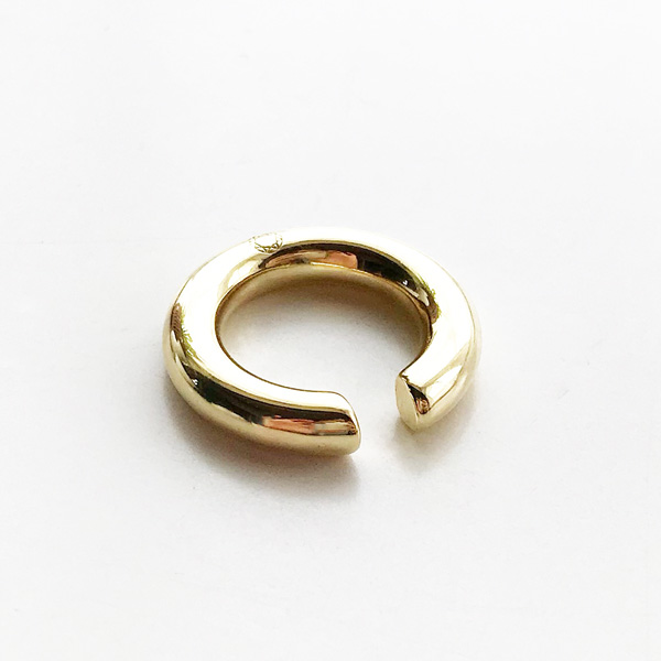 【再入荷】 Saskia Diez/BOLD EARCUFF NO3 BRASS, GOLD PLATED