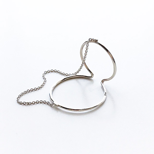 【再入荷】 Saskia Diez/WIRE EARCUFF DOUBLE NO2 CHAINED 925 AG