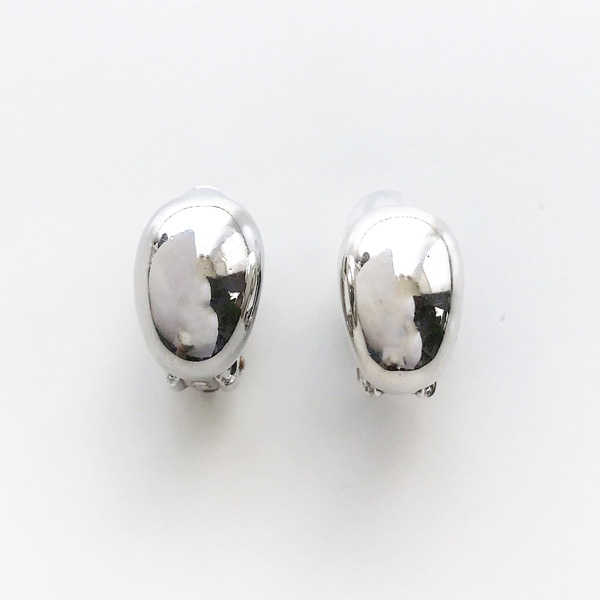 PHILIPPE AUDIBERT/Francoise earring clip pewter silver color,
