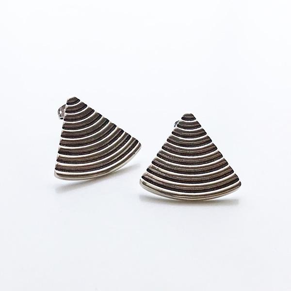 PHILIPPE AUDIBERT/Joris earring XL pewter silver color,