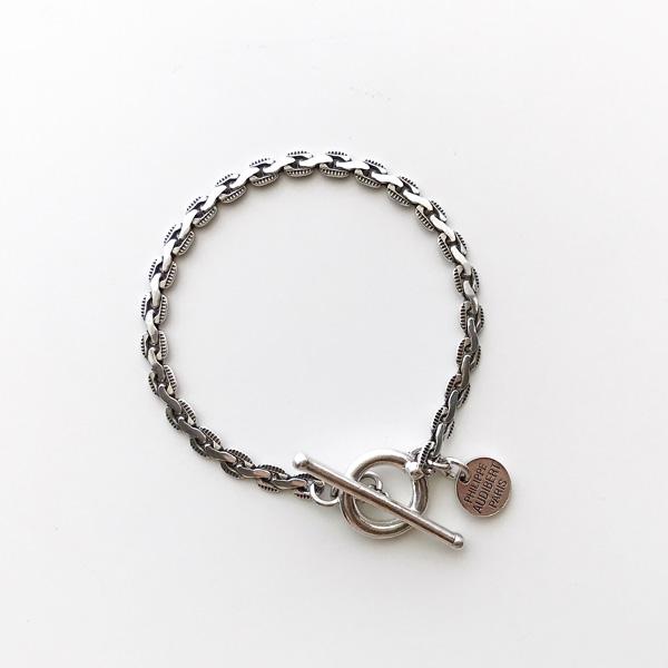 【再入荷】 PHILIPPE AUDIBERT/Andy chain bracelet, brass silver color,