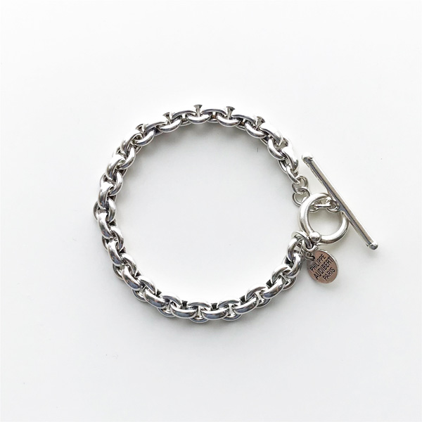 PHILIPPE AUDIBERT/Franck bracelet brass silver color,