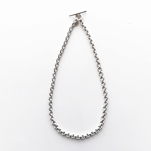 PHILIPPE AUDIBERT/Fracnk necklace S, brass silver color,