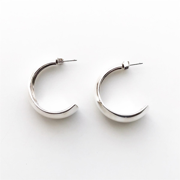 【20%OFF】 PHILIPPE AUDIBERT/Addison gm hoop earrings brass silver color,