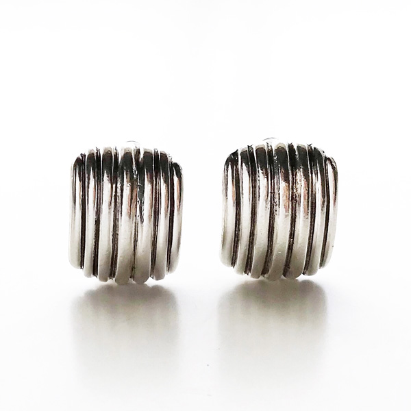 PHILIPPE AUDIBERT/Denise earrings clip, pewter silver color,