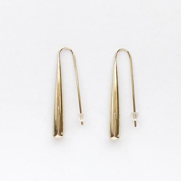 SOKO/teardrop threader earrings in gold