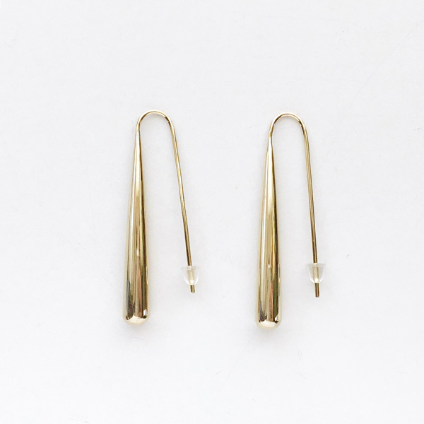 SOKO/teardrop threader earrings in gold