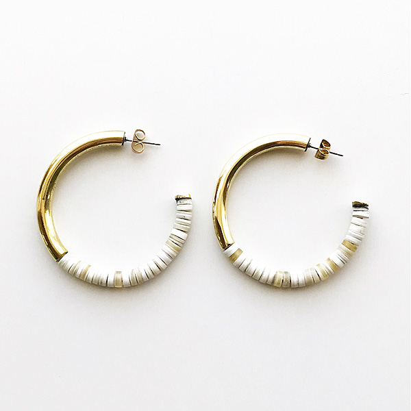SOKO/karamu horn hoop earrings in gold
