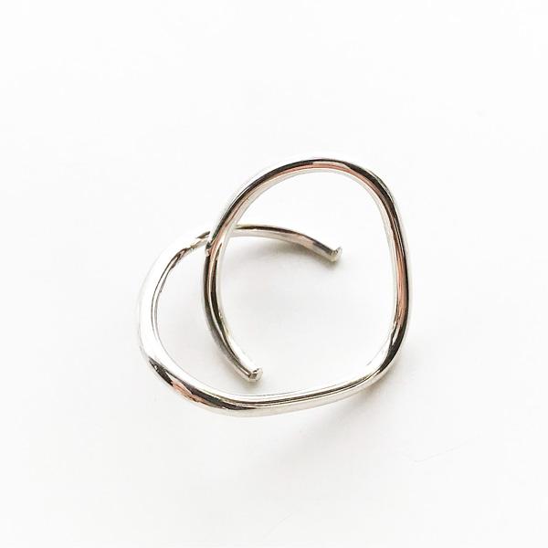 Saskia Diez/WIRE BOLD EARCUFF CROSS 925 AG SILVER 925 Sterling Silver