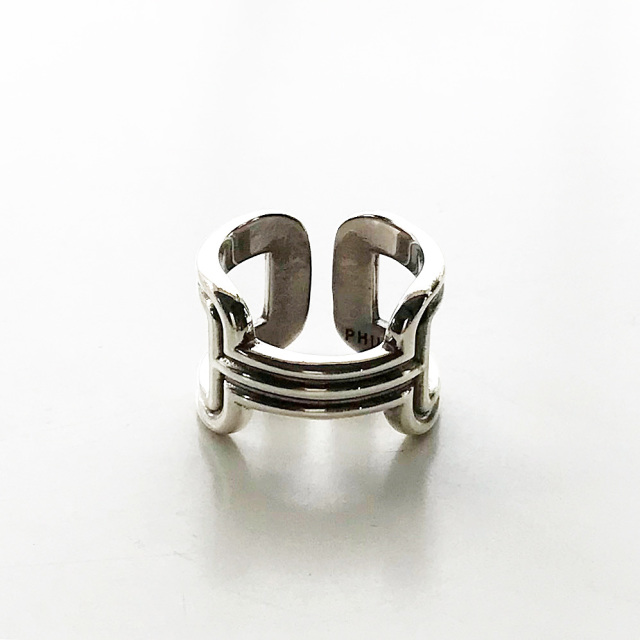 【再入荷】 PHILIPPE AUDIBERT/Errolia ring, brass silver color,