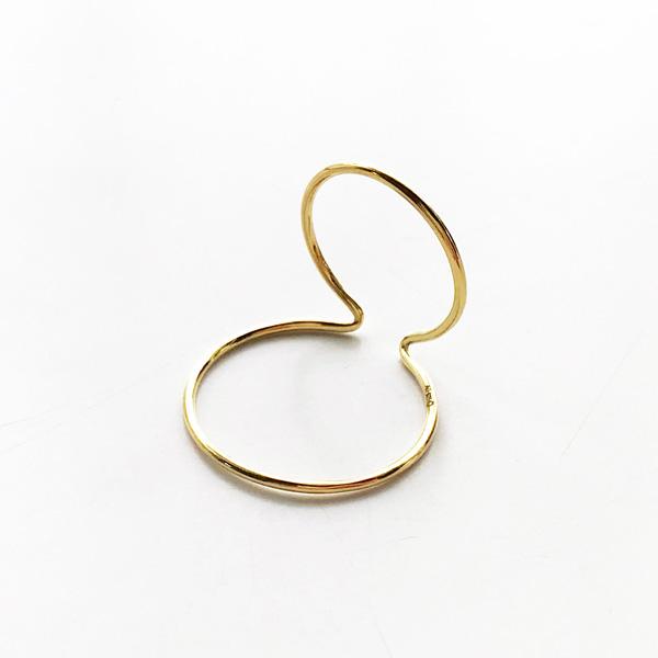 【再入荷】 Saskia Diez/WIRE EARCUFF DOUBLE NO1 925 AG Yellow Gold