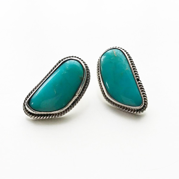 HARPO/BO07A/2020ss STONE EARRINGS TURQUOISE