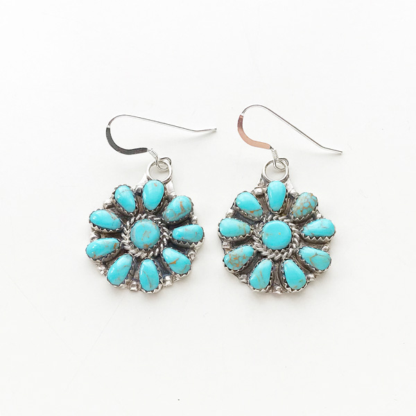 HARPO/BO4 Flower Earrings in Turquoise