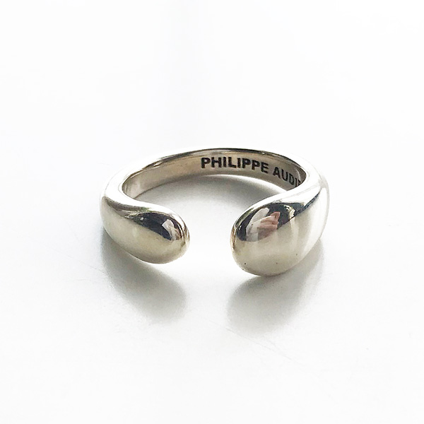 PHILIPPE AUDIBERT/Anne rounded ring, brass silver color,