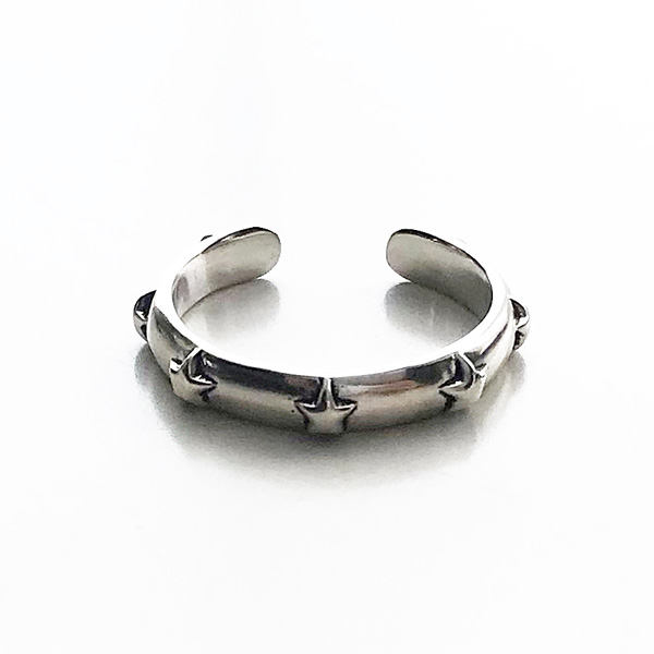 PHILIPPE AUDIBERT/Maxton ring, brass silver color,