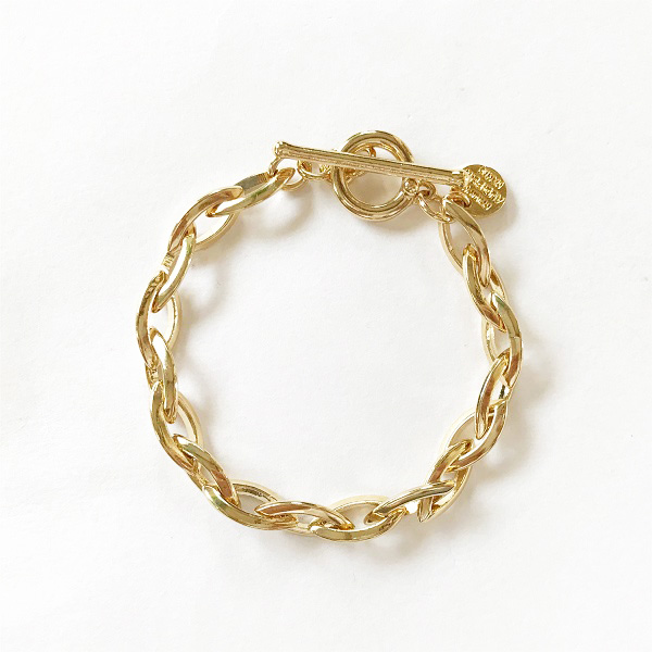 【再入荷】 PHILIPPE AUDIBERT/Elton bracelet, brass Light gold,