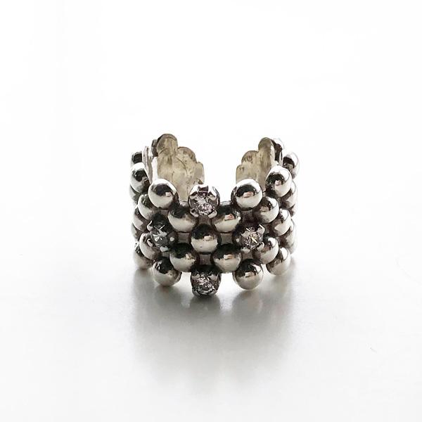 PHILIPPE AUDIBERT/Sid zirconium ring brass silver color, Crystal Swarovski Zirconium