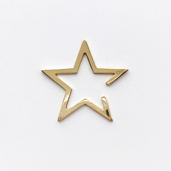 Saskia Diez/Star Earcuff Big 925 Ag Warm Gold