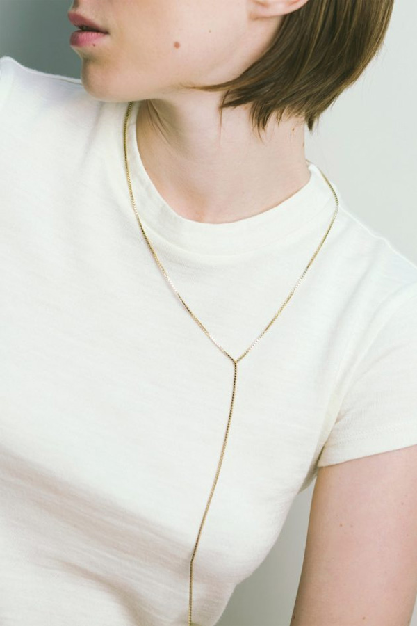 【7末入荷★ご予約受付中】 Saskia Diez/Fringe Necklace No1 75cm 925 Ag Warm Gold